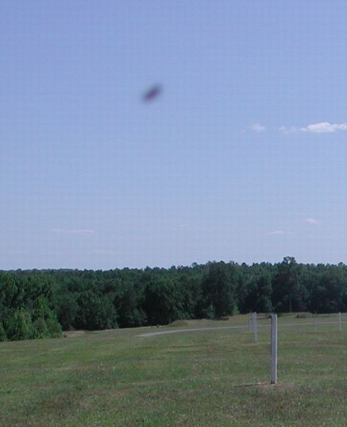 Photograph of possible UFO at Andersonville National Historical Site in 2002